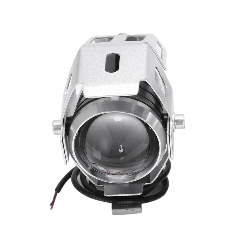 2x-125W-3000LM-CREE-LED-moto-moto-phare-conduire-spot-brouillard-U5-argent-T2H1 miniature 2