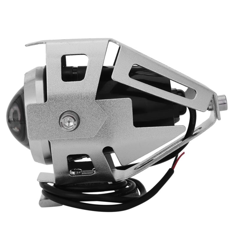 2x-125W-3000LM-CREE-LED-moto-moto-phare-conduire-spot-brouillard-U5-argent-T2H1 miniature 3