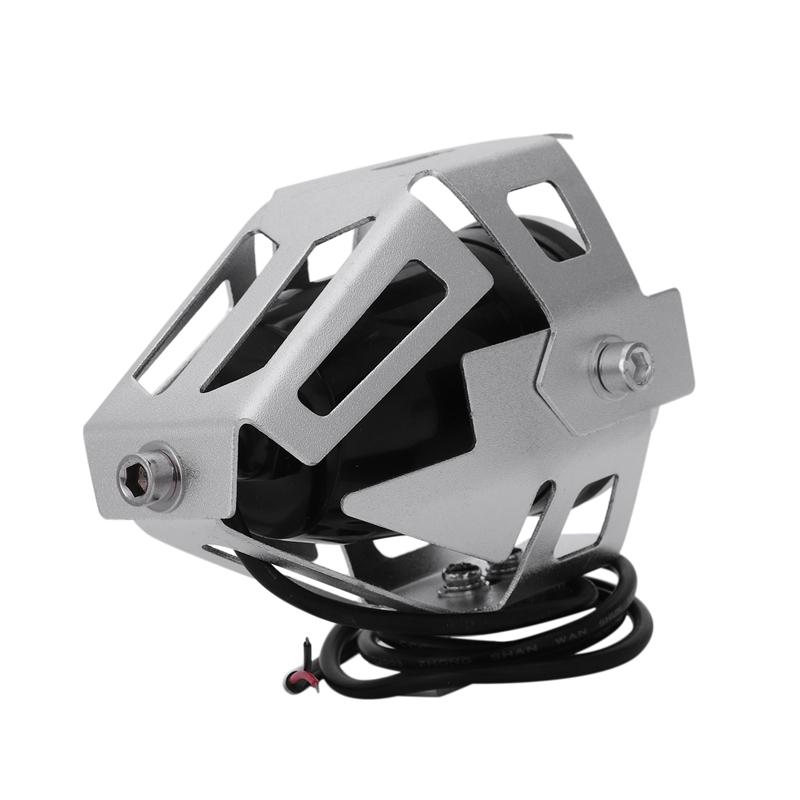 2x-125W-3000LM-CREE-LED-moto-moto-phare-conduire-spot-brouillard-U5-argent-T2H1 miniature 4