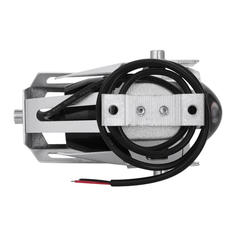 2x-125W-3000LM-CREE-LED-moto-moto-phare-conduire-spot-brouillard-U5-argent-T2H1 miniature 5
