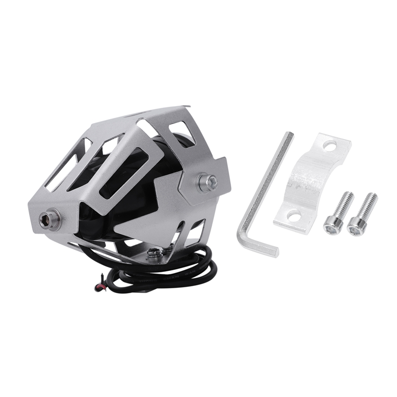 2x-125W-3000LM-CREE-LED-moto-moto-phare-conduire-spot-brouillard-U5-argent-T2H1 miniature 6