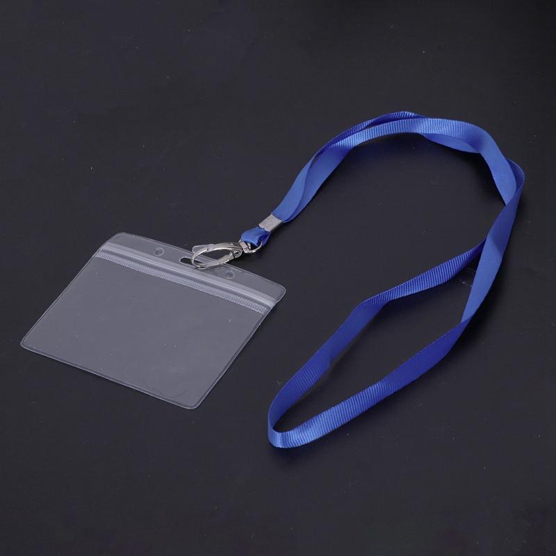 2 Stuecke wasserdicht Schluesselband mit Kartenhuelle Ausweishalter Ausweis Z3F4