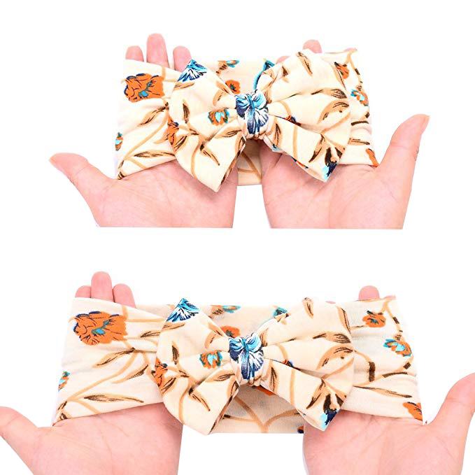 Neugeborene-Erhalten-Decke-Stirnband-Set-Flower-Print-Baby-Swaddle-A7G1 Indexbild 12