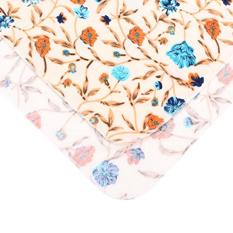 Neugeborene-Erhalten-Decke-Stirnband-Set-Flower-Print-Baby-Swaddle-A7G1 Indexbild 13