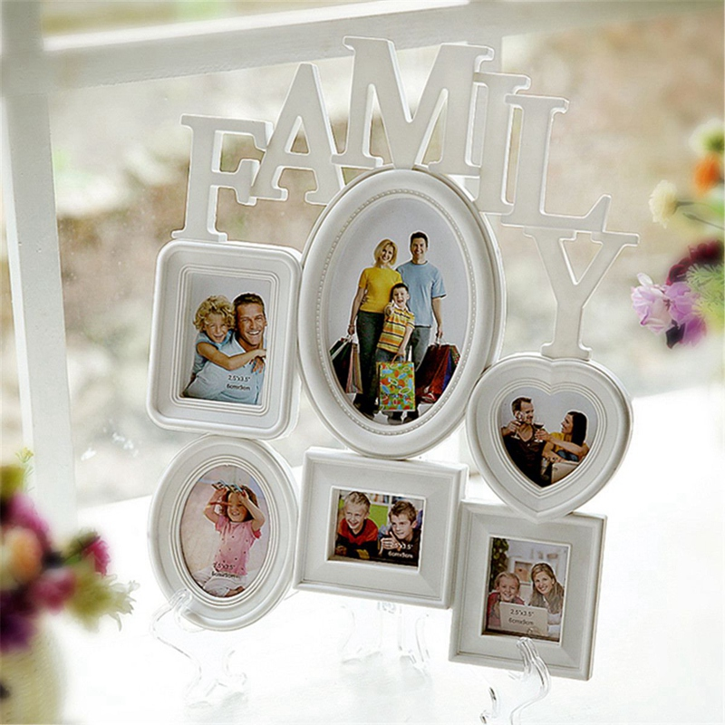 Family-Photo-Frame-Wall-Hanging-6-Multi-Sized-Pictures-Holder-Display-Home-T8W1 thumbnail 11
