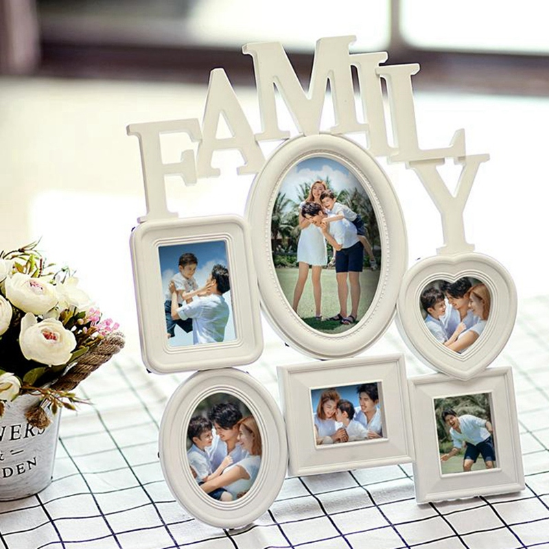 Family-Photo-Frame-Wall-Hanging-6-Multi-Sized-Pictures-Holder-Display-Home-T8W1 thumbnail 12