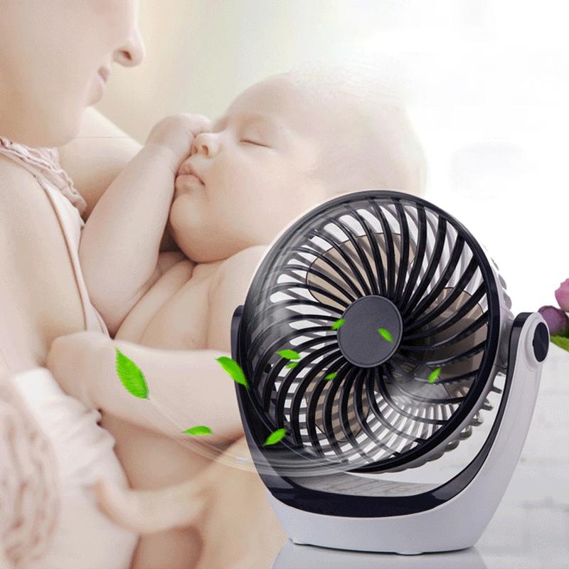 Ocube-Usb-Petit-Ventilateur-Mini-Rechargeable-Muet-Portable-Ventilateur-ELe-Q8W5 miniature 5