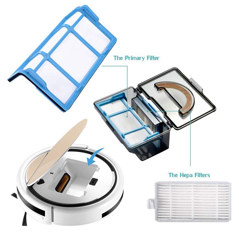 Seitenbürsten Wischpads Für ILIFE V3 V3s V5s Pro Roboter-Staubsauger Filter