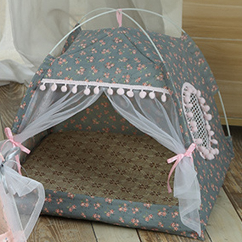 Breathable-Pet-Cat-House-Cave-Bed-Puppy-Sleeping-Bag-Cat-Pad-Summer-Bamboo-F8T2 thumbnail 3