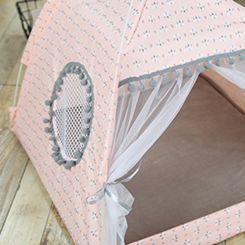 Breathable-Pet-Cat-House-Cave-Bed-Puppy-Sleeping-Bag-Cat-Pad-Summer-Bamboo-F8T2 thumbnail 4