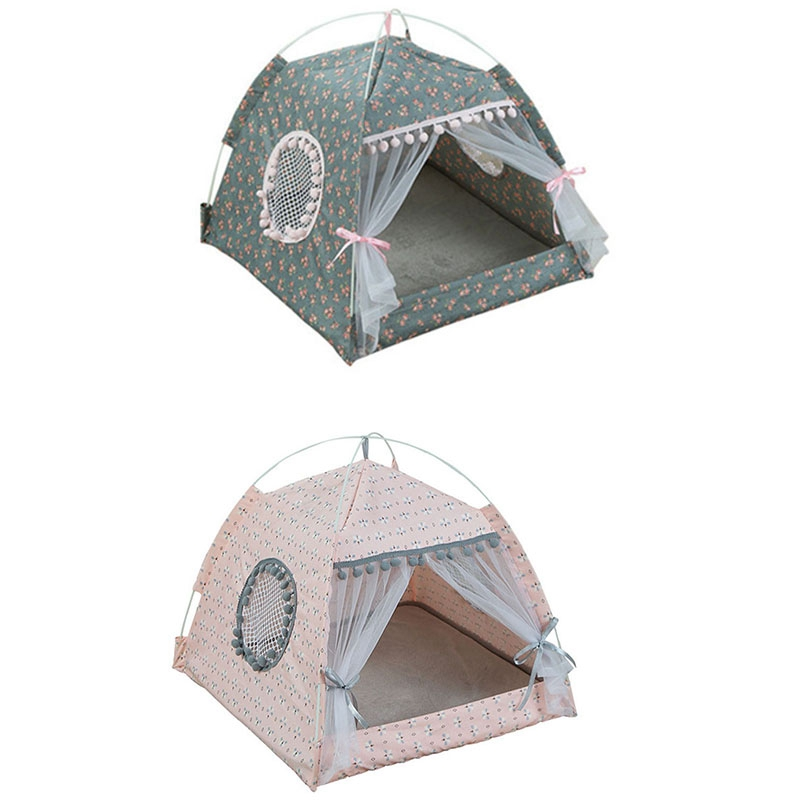 Breathable-Pet-Cat-House-Cave-Bed-Puppy-Sleeping-Bag-Cat-Pad-Summer-Bamboo-F8T2 thumbnail 6