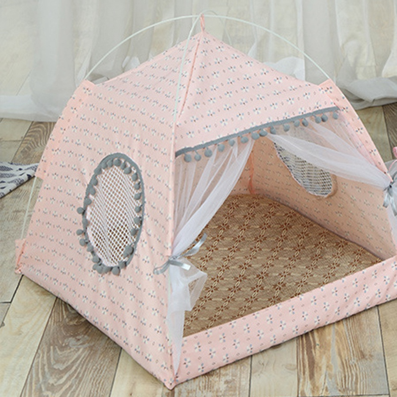 Breathable-Pet-Cat-House-Cave-Bed-Puppy-Sleeping-Bag-Cat-Pad-Summer-Bamboo-F8T2 thumbnail 8