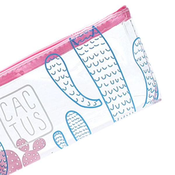 Caja-de-LaPices-de-Dibujos-Animados-Transparente-Cactus-Simple-y-Lindo-Oficina-E miniatura 13