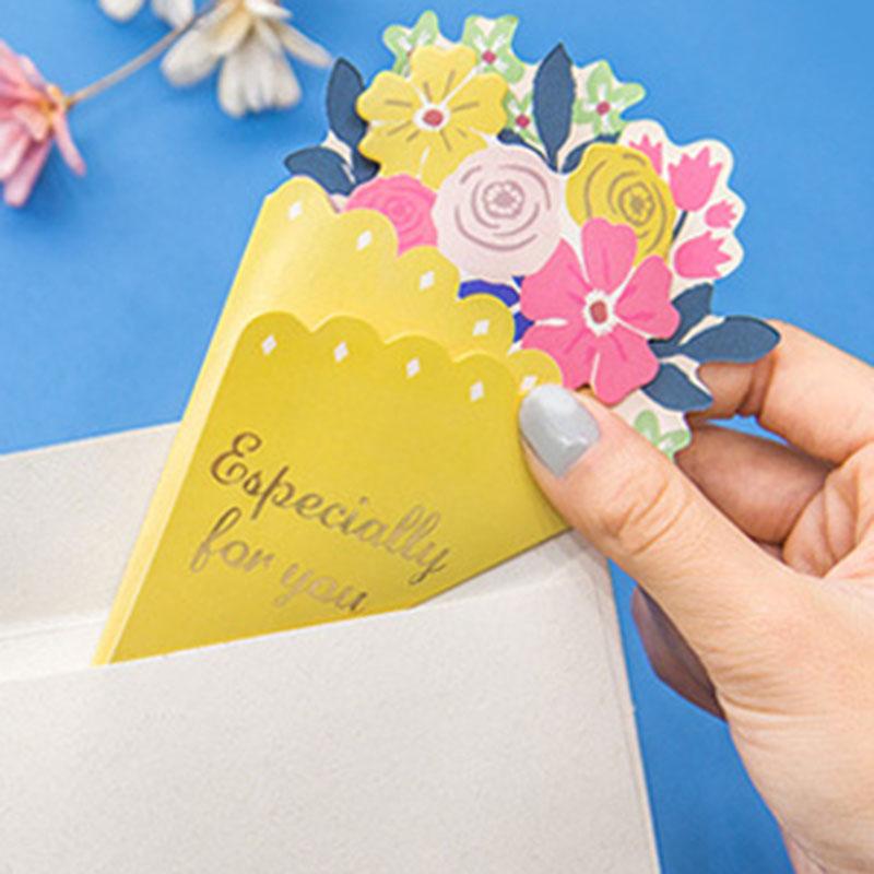 Tarjeta-de-FelicitacioN-de-Flores-de-20-Piezas-con-sobre-de-Mensaje-de-Felicitac miniatura 4