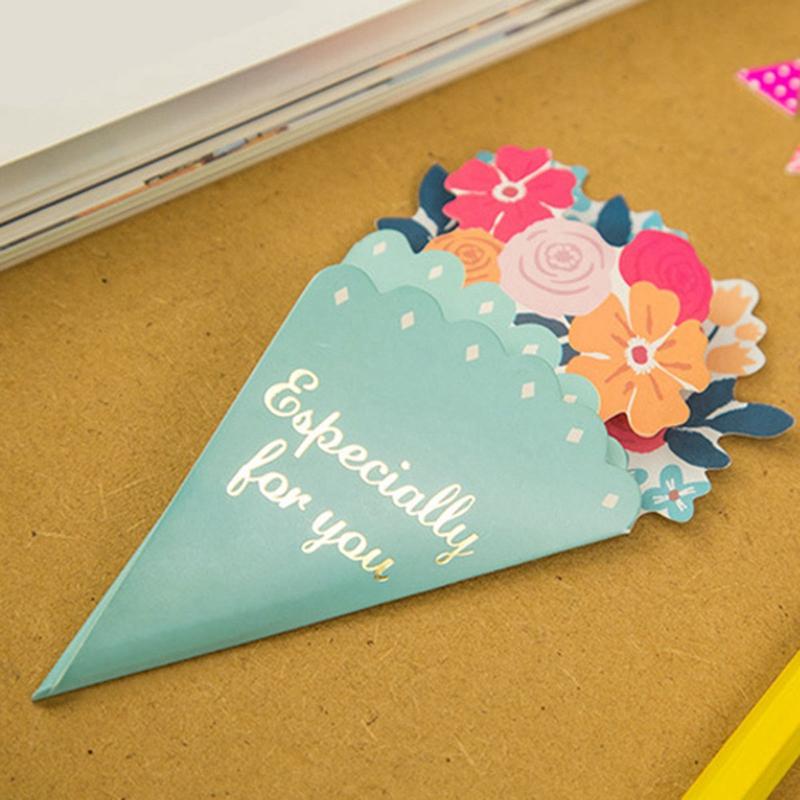 Tarjeta-de-FelicitacioN-de-Flores-de-20-Piezas-con-sobre-de-Mensaje-de-Felicitac miniatura 6