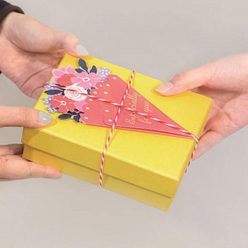 Tarjeta-de-FelicitacioN-de-Flores-de-20-Piezas-con-sobre-de-Mensaje-de-Felicitac miniatura 7