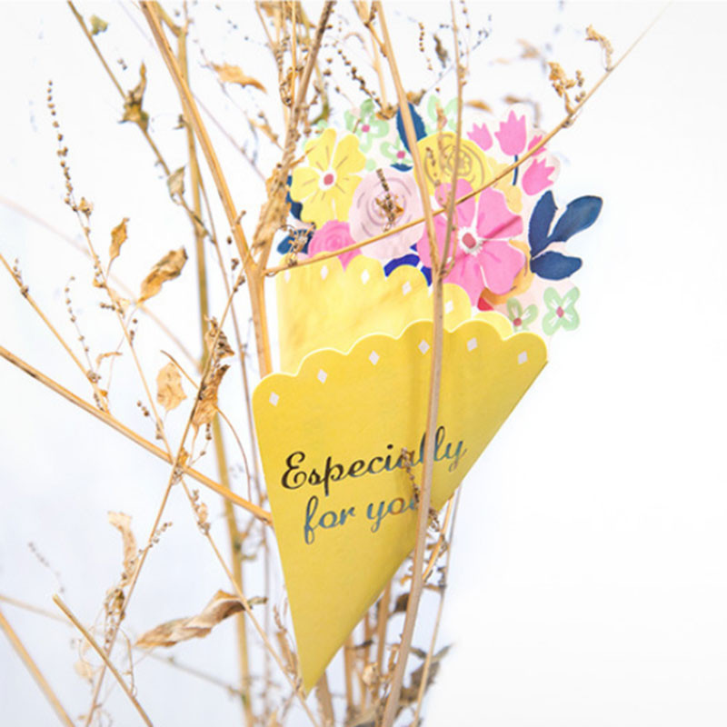 Tarjeta-de-FelicitacioN-de-Flores-de-20-Piezas-con-sobre-de-Mensaje-de-Felicitac miniatura 8