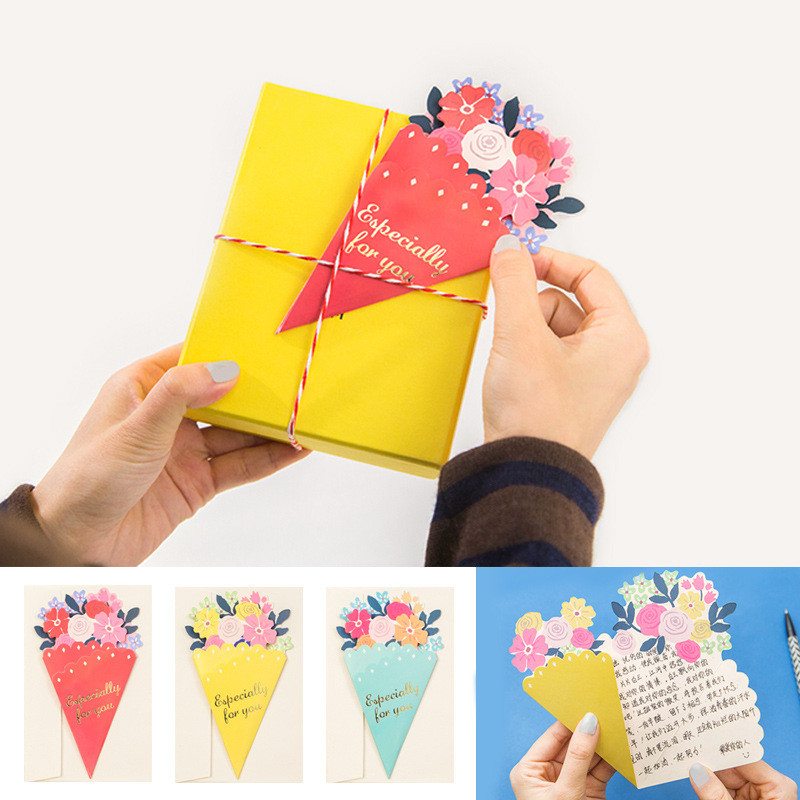 Tarjeta-de-FelicitacioN-de-Flores-de-20-Piezas-con-sobre-de-Mensaje-de-Felicitac miniatura 30