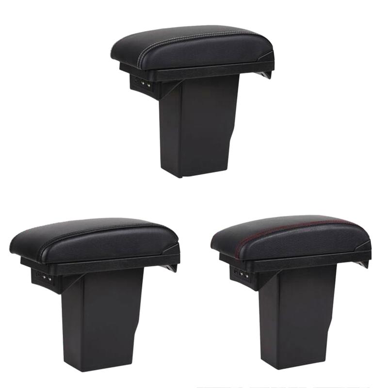 For-Peugeot-2008-Armrest-Box-3Usb-Black-Leather-Center-New-Storage-Box-Mod-U7Q1 thumbnail 5