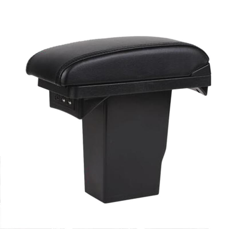 For-Peugeot-2008-Armrest-Box-3Usb-Black-Leather-Center-New-Storage-Box-Mod-U7Q1 thumbnail 2