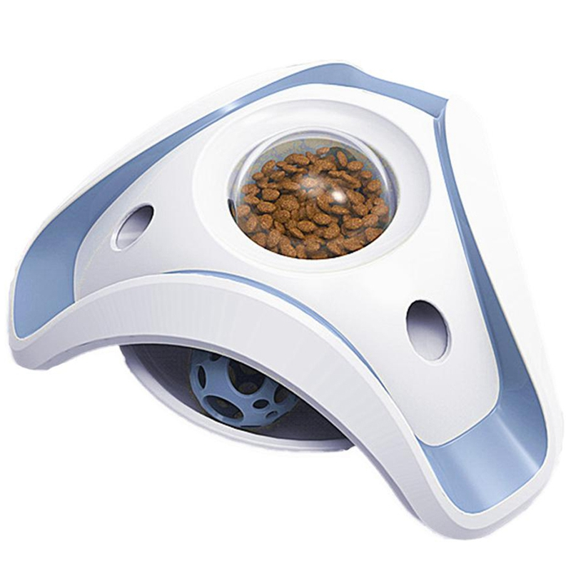 Blue-and-White-Pet-Puzzle-Cat-Toy-Food-Leak-Food-Dispenser-Feeder-Interacti-A5X4