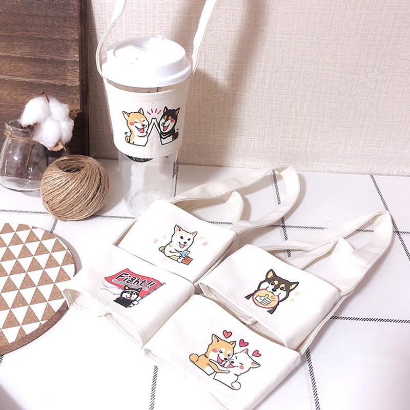 1X-Cute-Handmade-Cup-Set-Green-Drink-Handbag-Canvas-Life-Z9W9 thumbnail 5