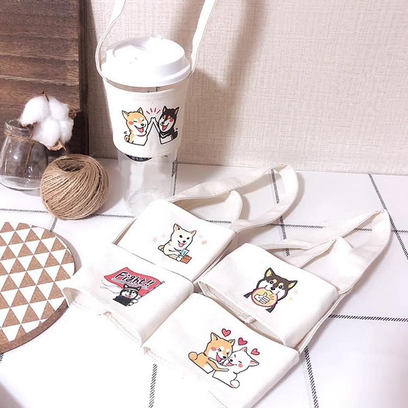 1X-SuessE-Handgemachte-Tasse-Set-Green-Drink-Handtasche-Canvas-Life-C2C8 Indexbild 5