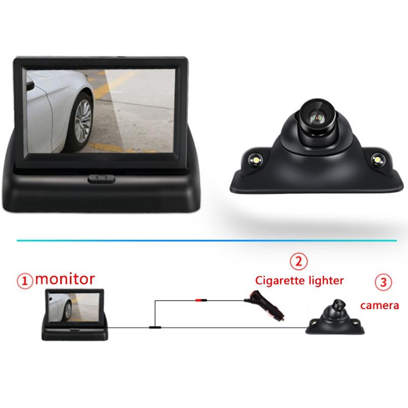 YOELBAER-Wireless-Rear-View-Camera-Vehicle-Folding-Foldable-Monitor-Video-S-T1Y4 thumbnail 3