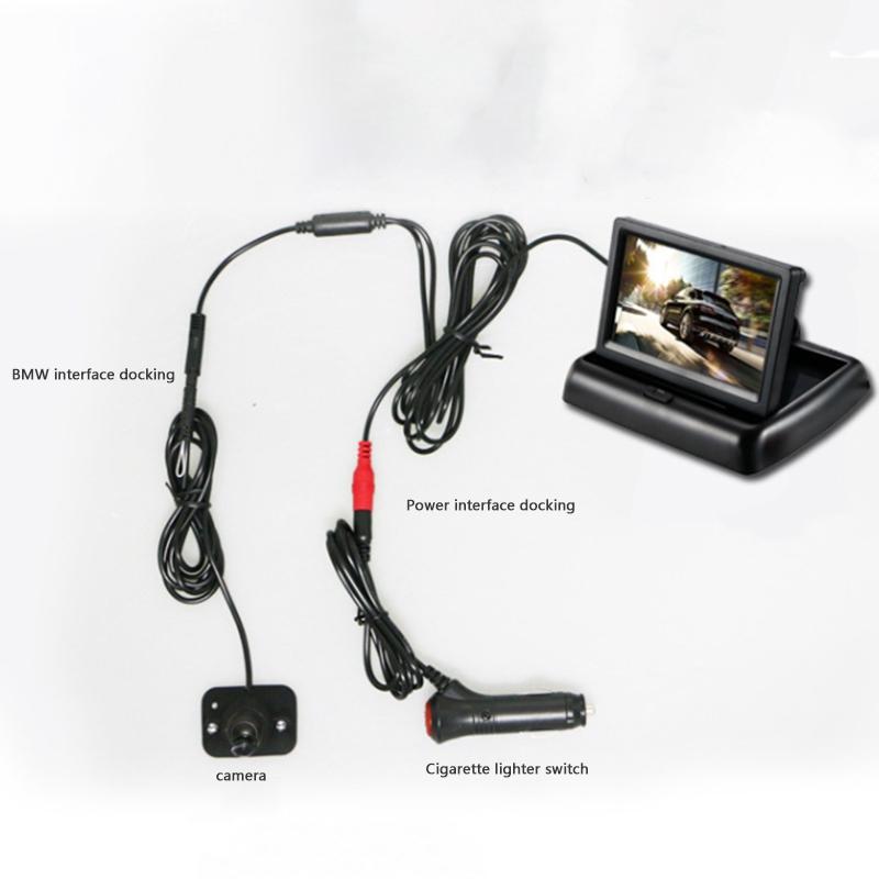 YOELBAER-Wireless-Rear-View-Camera-Vehicle-Folding-Foldable-Monitor-Video-S-T1Y4 thumbnail 4