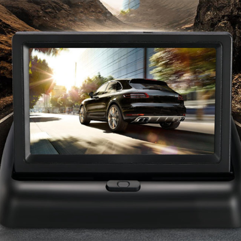 YOELBAER-Wireless-Rear-View-Camera-Vehicle-Folding-Foldable-Monitor-Video-S-T1Y4 thumbnail 5