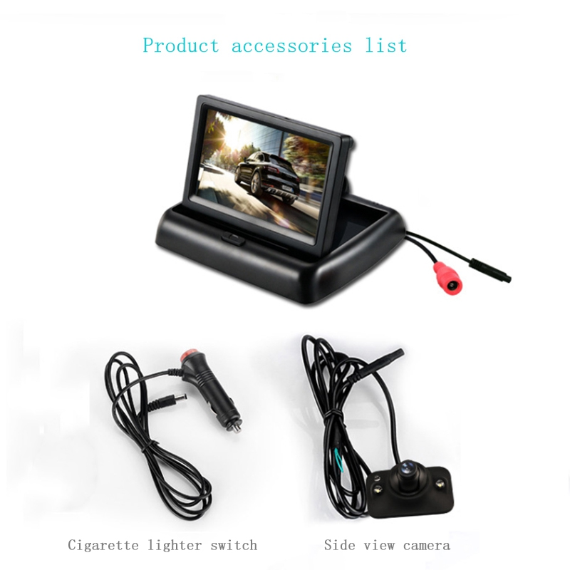 YOELBAER-Wireless-Rear-View-Camera-Vehicle-Folding-Foldable-Monitor-Video-S-T1Y4 thumbnail 8