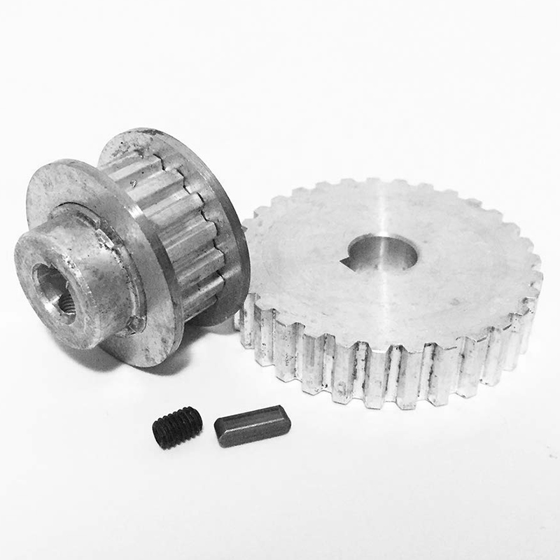 1X-2Pcs-Metal-Synchronous-Pulley-Gear-Motor-Belt-Gear-Drive-Wheel-Gear-S-N-C-B2 thumbnail 3