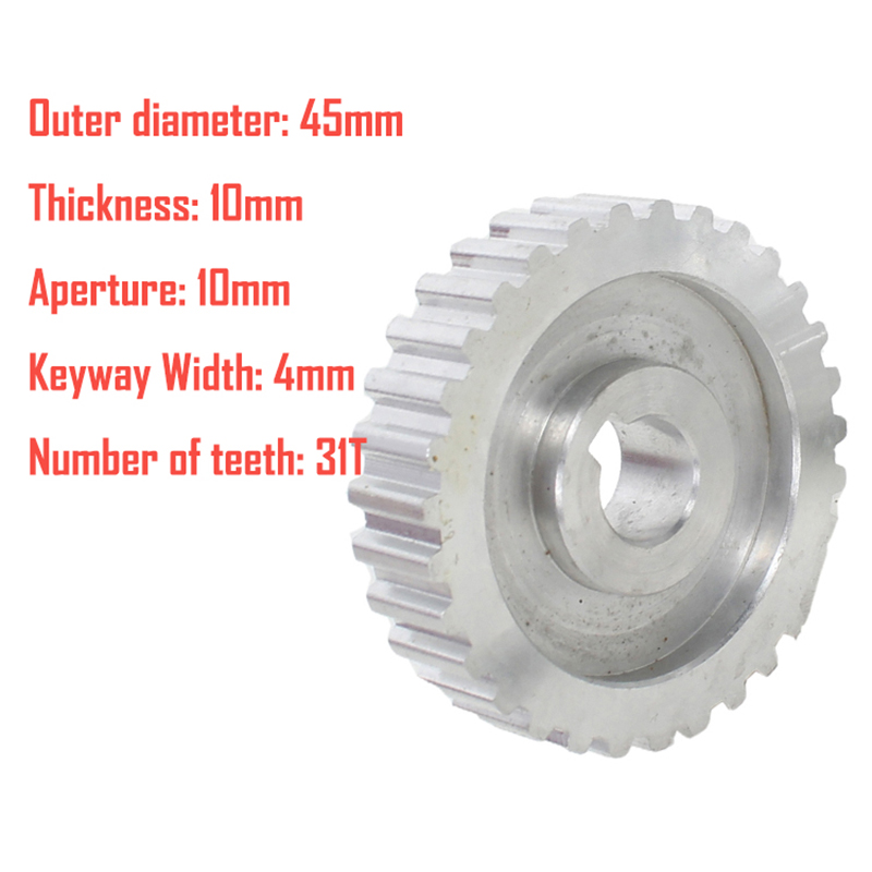 1X-2Pcs-Metal-Synchronous-Pulley-Gear-Motor-Belt-Gear-Drive-Wheel-Gear-S-N-C-B2 thumbnail 7