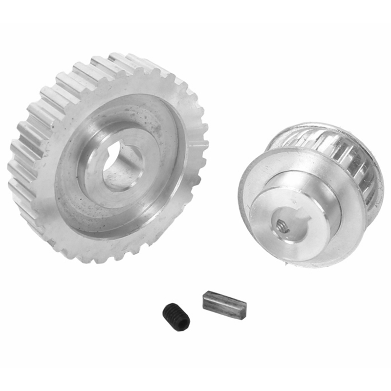 1X-2Pcs-Metal-Synchronous-Pulley-Gear-Motor-Belt-Gear-Drive-Wheel-Gear-S-N-C-B2