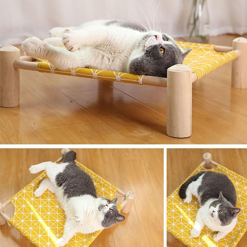 Summer-Cat-Hamac-Pet-House-Chien-Chiot-Coussin-Paresseux-Coussin-Chat-Pares-D6M1 miniature 6