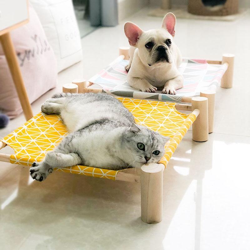 Summer-Cat-Hamac-Pet-House-Chien-Chiot-Coussin-Paresseux-Coussin-Chat-Pares-D6M1 miniature 13