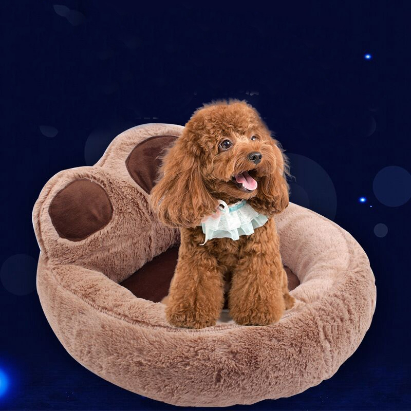 Bear-Fleece-Winter-Warm-Dog-Puppy-Soft-Pad-Bed-House-Nest-Washable-Small-Do-O9Q5 thumbnail 3