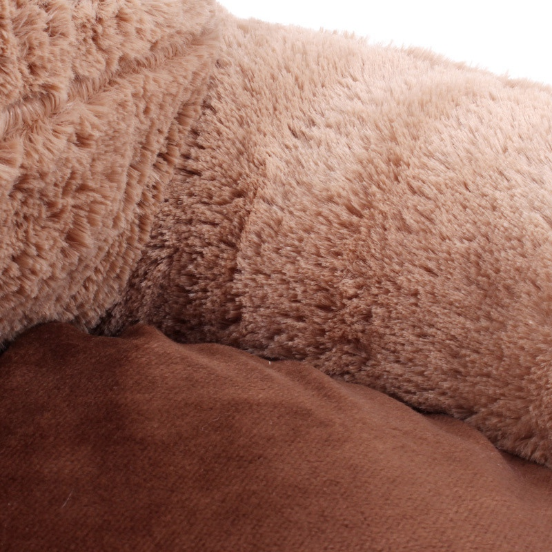 Bear-Fleece-Winter-Warm-Dog-Puppy-Soft-Pad-Bed-House-Nest-Washable-Small-Do-O9Q5 thumbnail 4