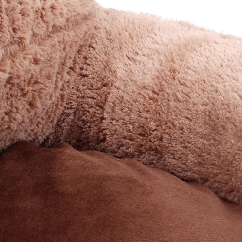 Bear-Fleece-Winter-Warm-Dog-Puppy-Soft-Pad-Bed-House-Nest-Washable-Small-Do-B1I2 thumbnail 4