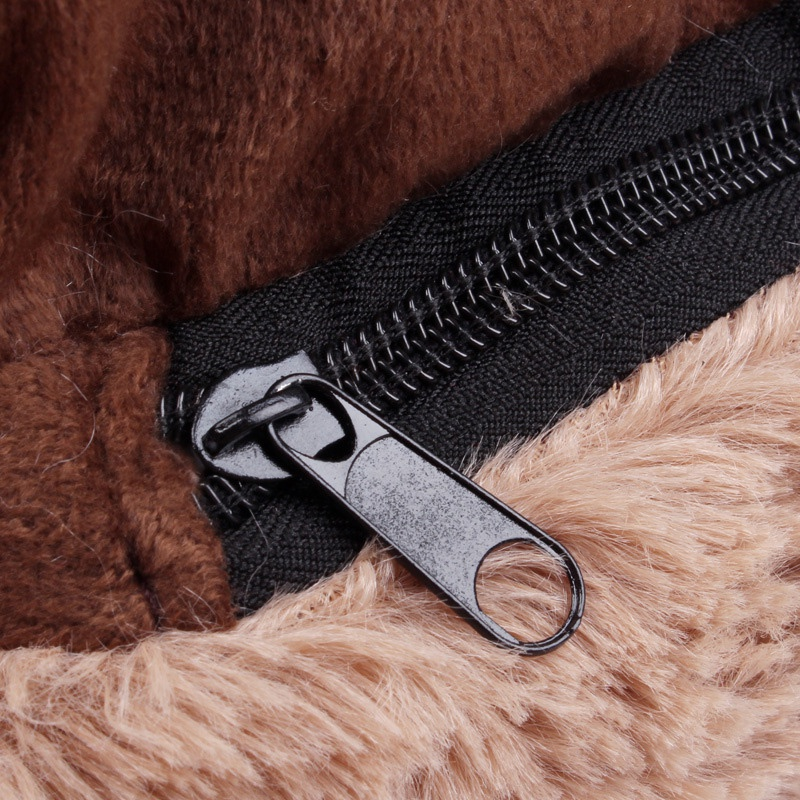 Bear-Fleece-Winter-Warm-Dog-Puppy-Soft-Pad-Bed-House-Nest-Washable-Small-Do-B1I2 thumbnail 5