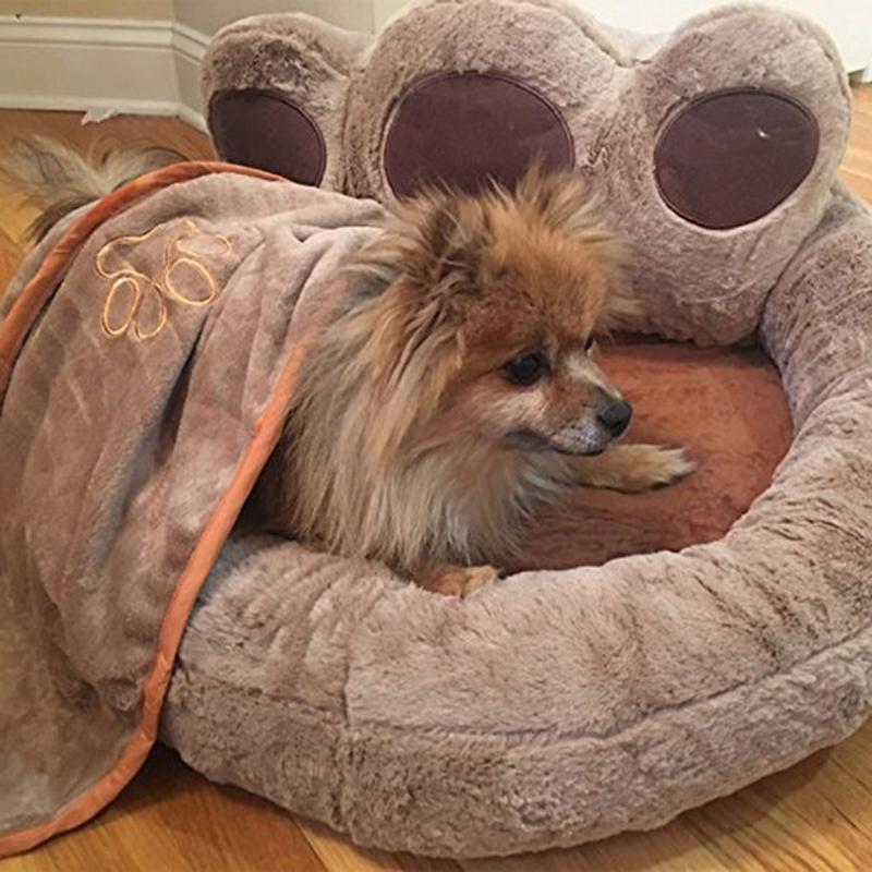Bear-Fleece-Winter-Warm-Dog-Puppy-Soft-Pad-Bed-House-Nest-Washable-Small-Do-O9Q5 thumbnail 7