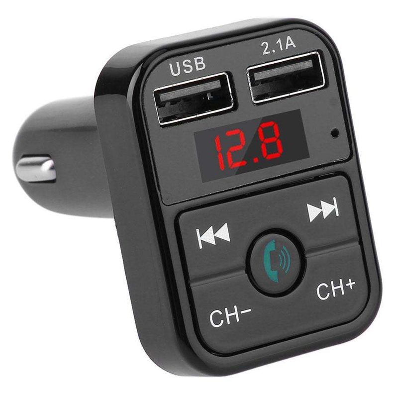 Quelima-B2-Car-Kit-Handsfree-Wireless-Bluetooth-Fm-Transmitter-Lcd-Mp3-F4Q1 miniatuur 3