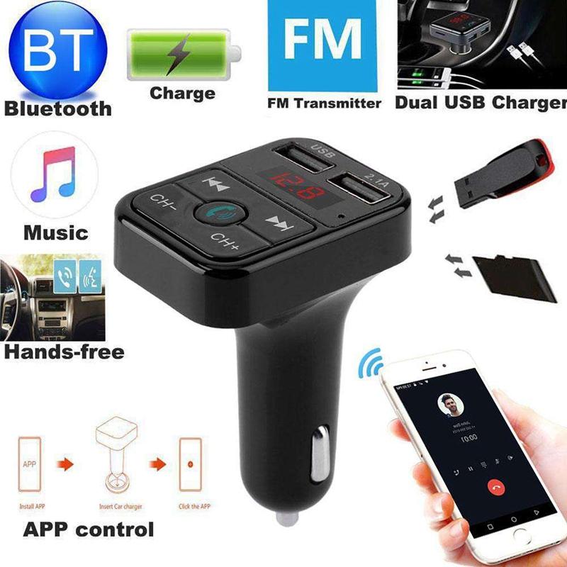 Quelima-B2-Car-Kit-Handsfree-Wireless-Bluetooth-Fm-Transmitter-Lcd-Mp3-F4Q1 miniatuur 6