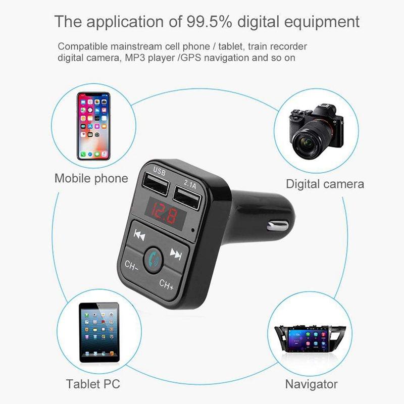 Quelima-B2-Car-Kit-Handsfree-Wireless-Bluetooth-Fm-Transmitter-Lcd-Mp3-F4Q1 miniatuur 8