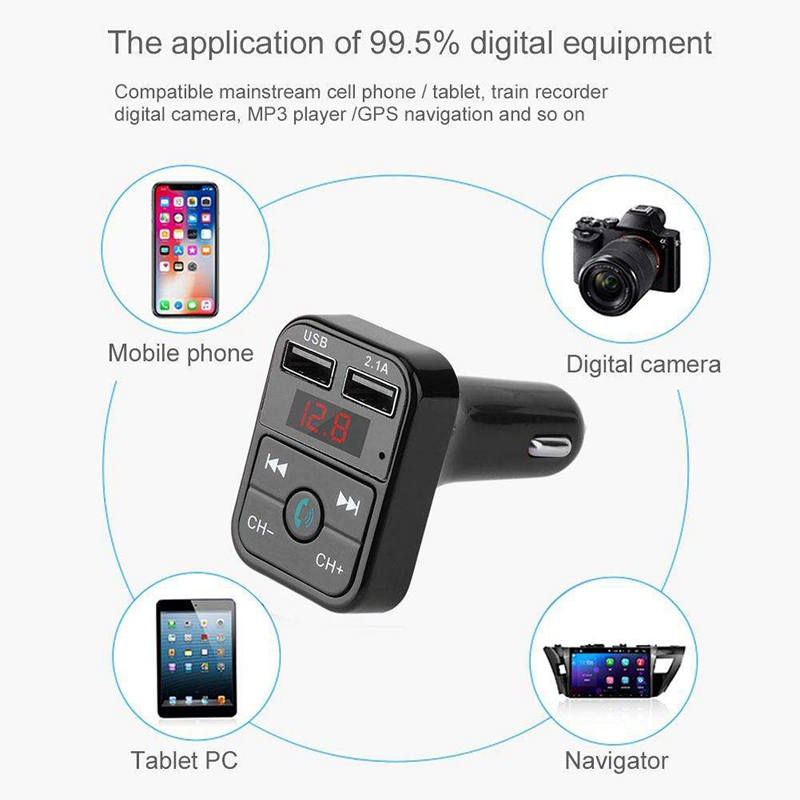 Quelima-B2-Car-Kit-Handsfree-Wireless-Bluetooth-Fm-Transmitter-Lcd-Mp3-F4Q1 miniatuur 20