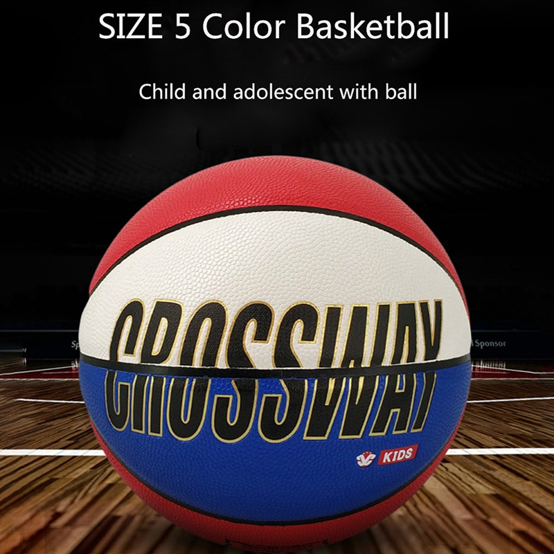 Crossway-Basketball-Ball-Lq-503-Pu-Material-Official-Size-5-Children-039-S-Bask-R5C4 thumbnail 6