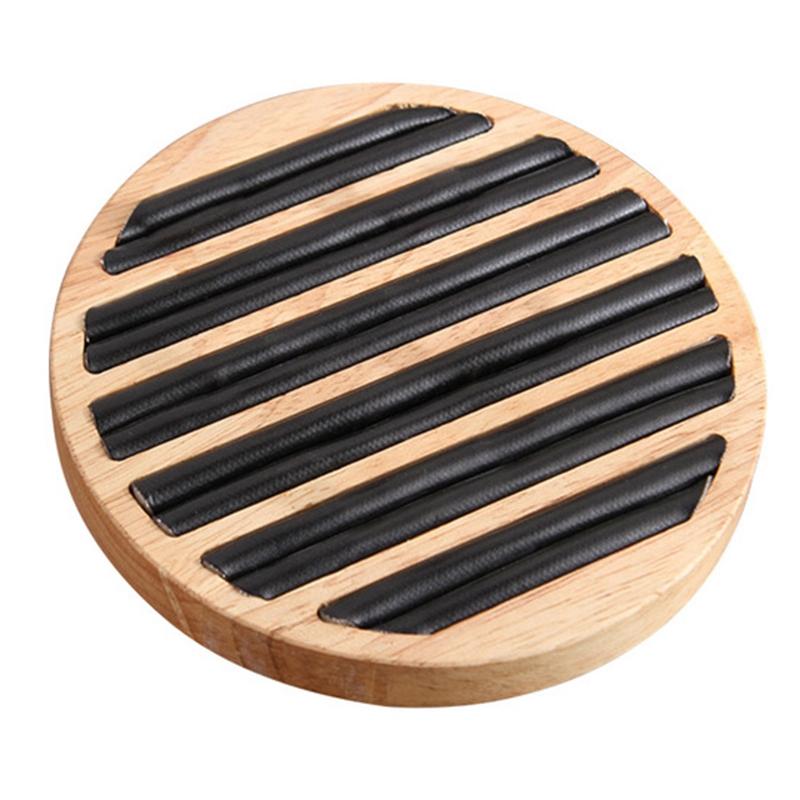 2X-1-StueCk-Ringe-Display-Tray-Holz-Runde-Ring-Halter-Zeigt-Platte-Schmuck-V-O6R6 Indexbild 2