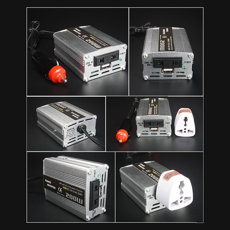 200W-Car-Power-Inverter-Dc-12V-To-Ac-220V-Converter-Dual-Usb-Charger-r-P9Y7 thumbnail 6