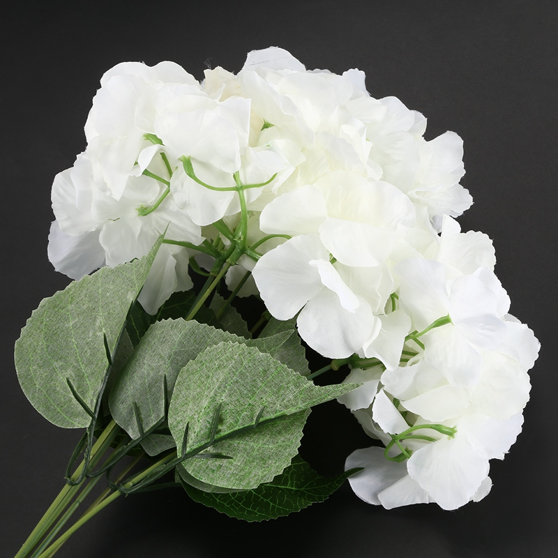 "thumbnail 7 - Artificial Hydrangea Flower 5 Big Heads Bouquet (Diameter 7"" each head) S6A9"