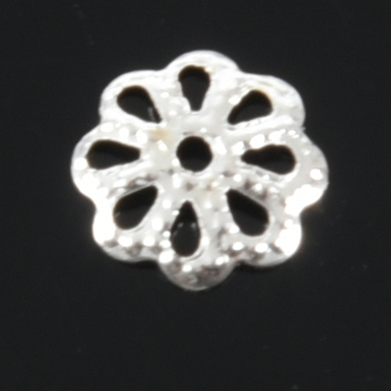Beautiful Bead 6mm Silver Tone Flower Bead Caps for Jewelry Making About 500 F5